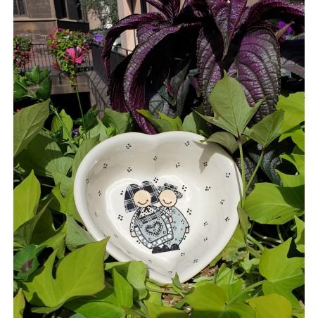 Saladier Haut Coeur Jeannala & Seppala Noir 22 cm