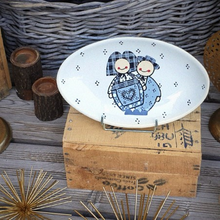 Assiette Ovale Jeannala & Seppala Noir petite