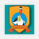Reproduction Bière Cigogne