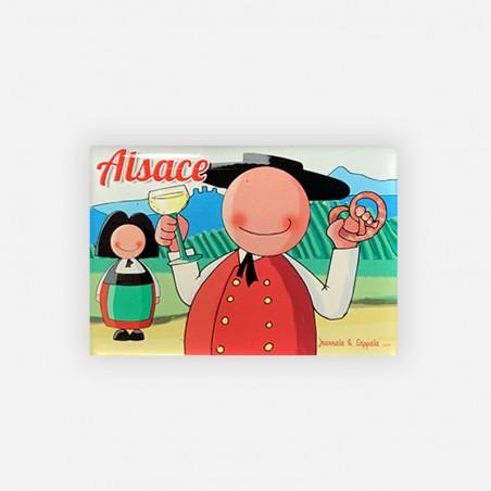 Magnet Alsace Bretzel Jeannala et Seppala